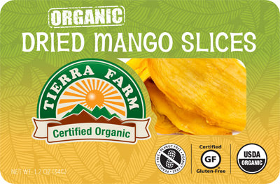 Organic Grab & Go Dried Mango Slices (9 Pack Box)