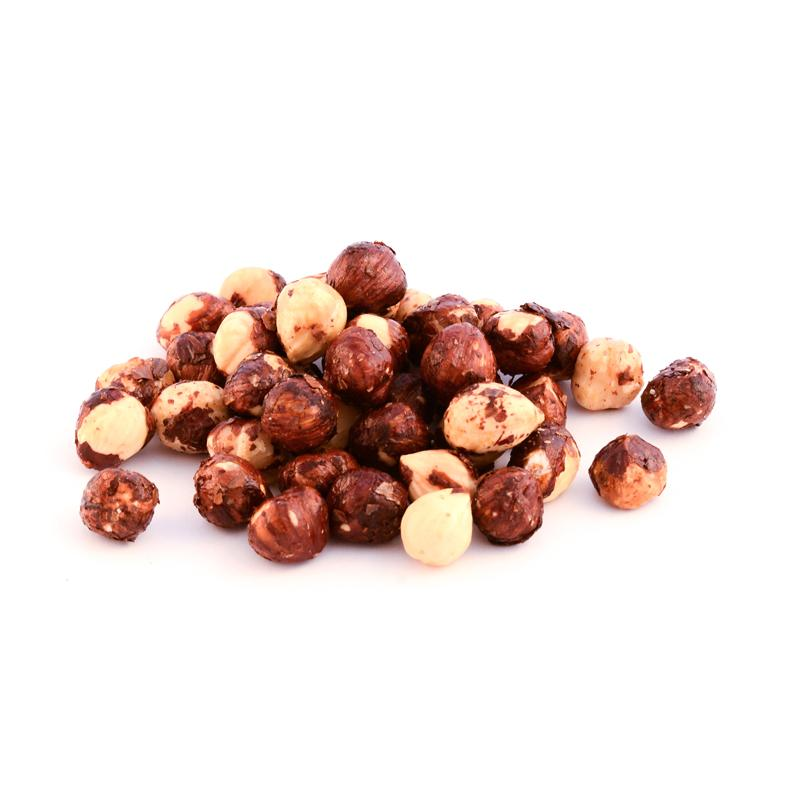 organic dry roasted maple glazed hazelnuts
