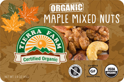Organic Grab & Go Maple Mixed Nuts (9 Pack Box)