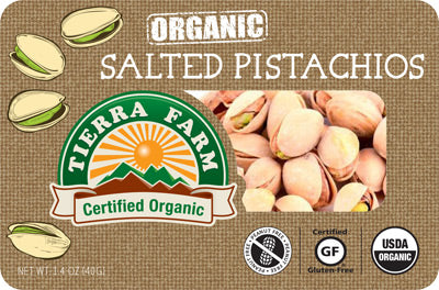 Organic Grab & Go Salted Pistachios (9 Pack Box)