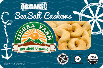 Organic Grab & Go Sea Salt Cashews (9 Pack Box)