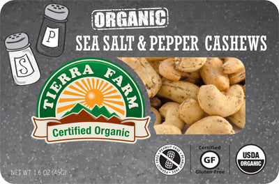 Organic Grab & Go Sea Salt & Pepper Cashews (9 Pack Box)