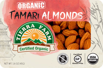 Organic Grab & Go Tamari Almonds (9 Pack Box)