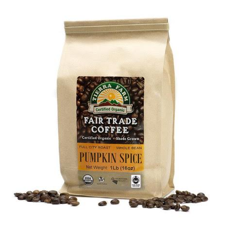 organic pumpkin spice coffee