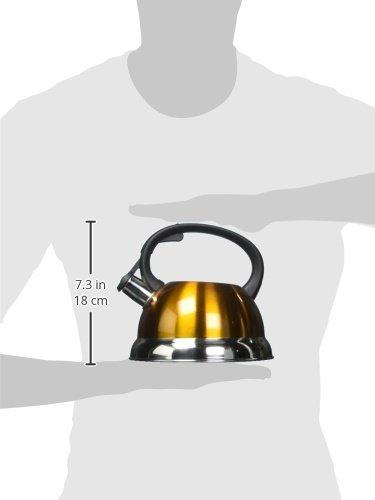 2.5 Quart Metallic Galaxy Tea Kettle from Select Home in YELLOW by Kitchen Works - ShopSmartMarket