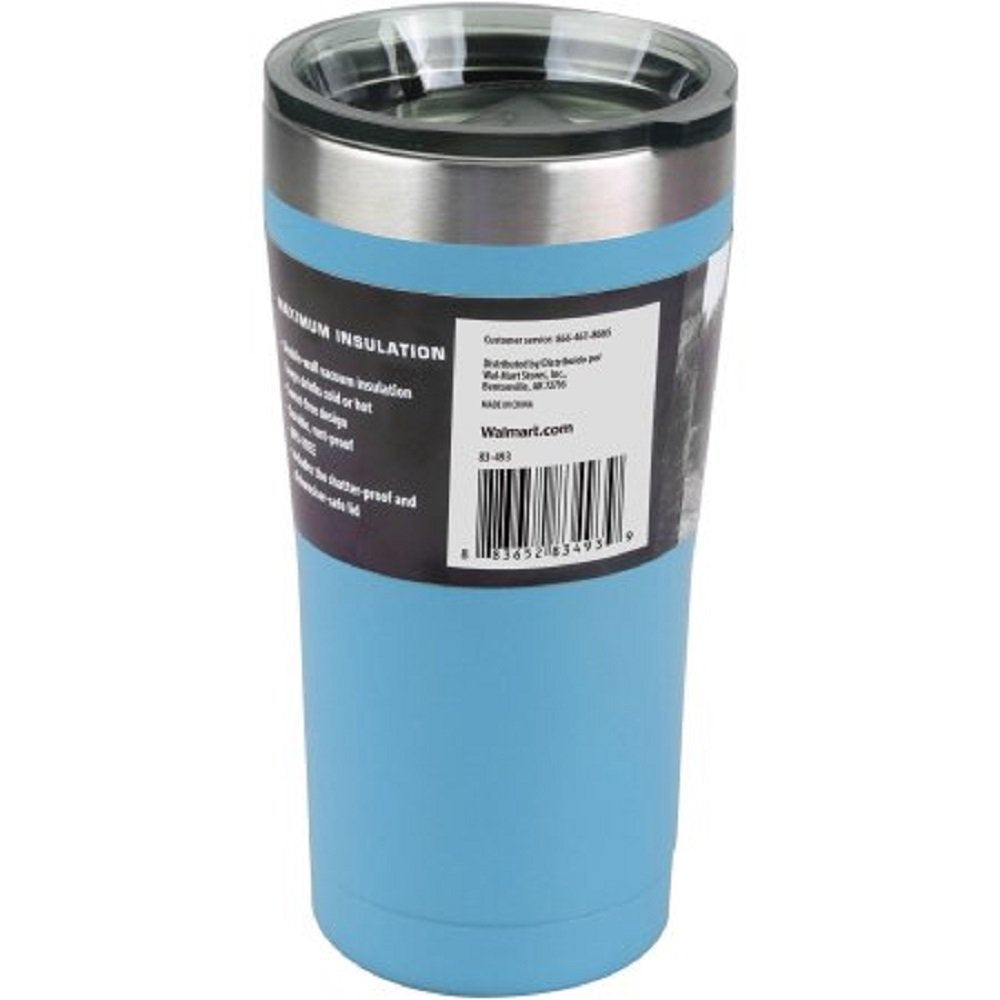 Ozark Trail 20-Ounce Double-Wall Vacuum-Sealed Powder Coated Blue Tumbler - ShopSmartMarket