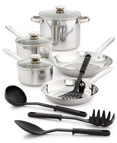 Bella 12-Pc. Stainless Steel Cookware Set - ShopSmartMarket