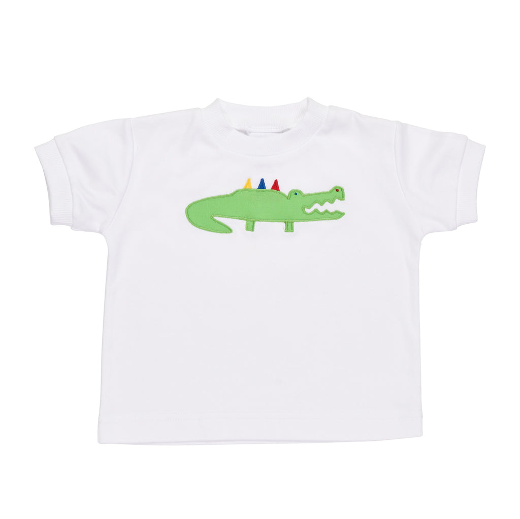 T Shirt with Alligator Applique