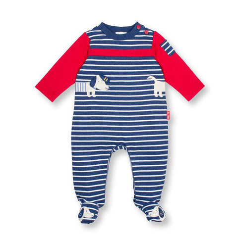 Doggie Duet Footed Stripe Coverall