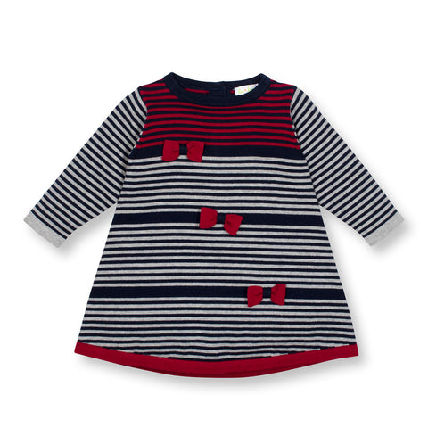 Baby Girls Stripe A-Line Knit Dress
