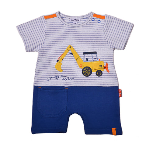 "Baby Boys ""Let's Build"" Romper"