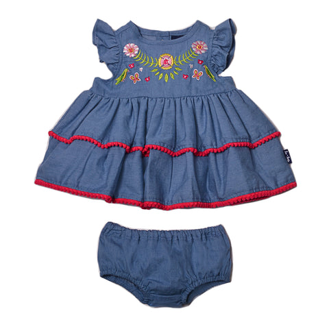 Baby Girls Top with Diaper Cover Set