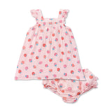 Strawberry Dress + Bloomer Set