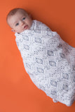 Swaddle Blanket - Gray Ikat