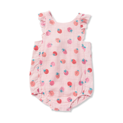 Strawberries Sunsuit