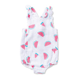Watermelon Muslin Sunsuit