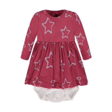 Girls Star Print Bodysuit