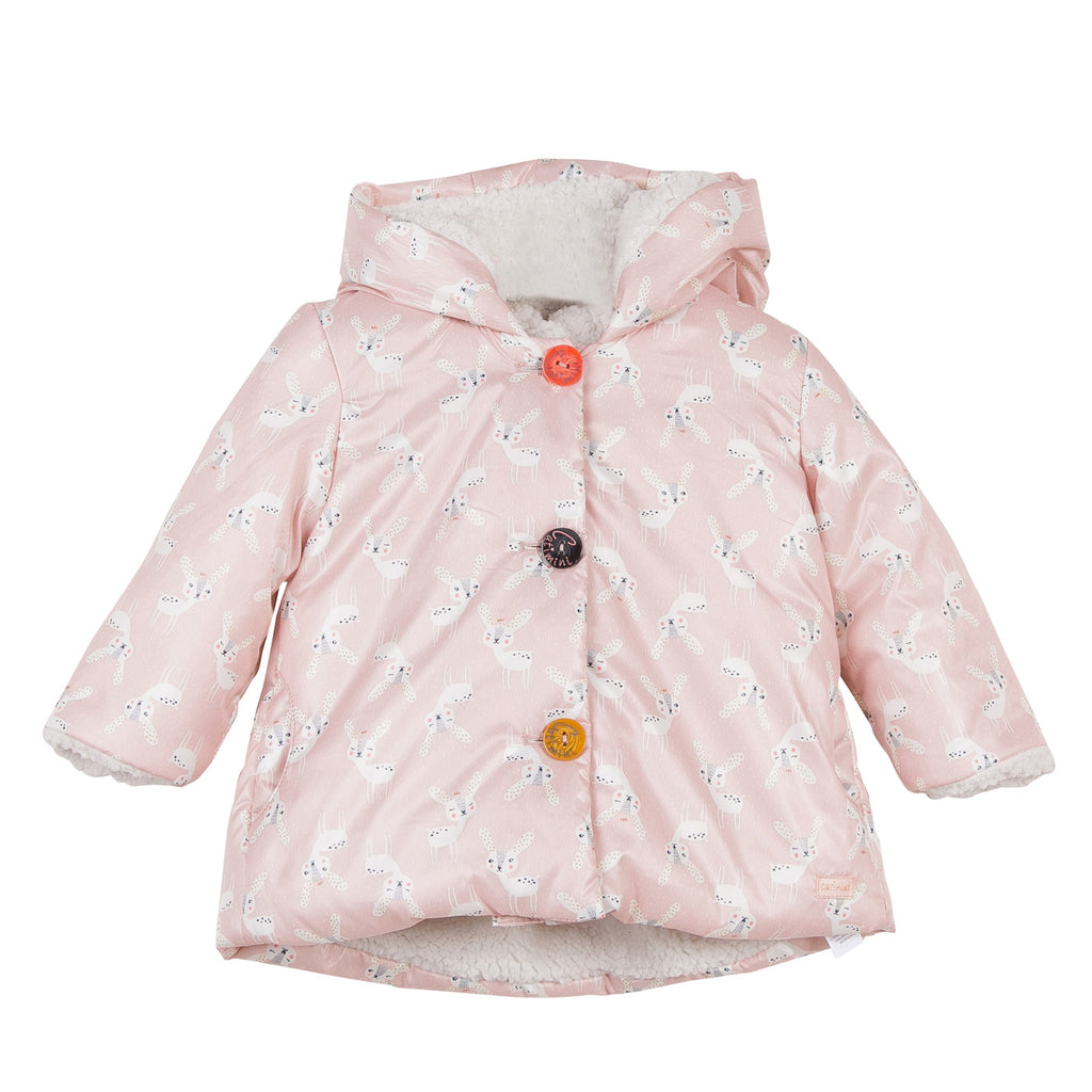 Bambi Pink Hooded Coat