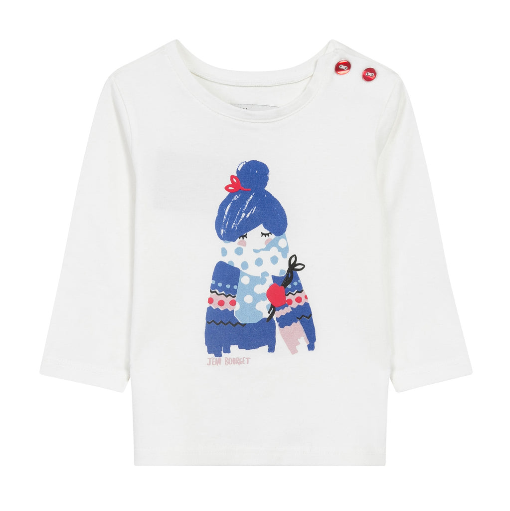 Winter Girl Front-and-Back Graphic T-Shirt