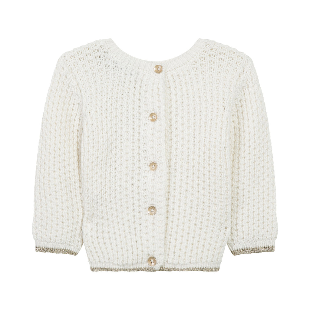 Ivory Front and Back Cardigan