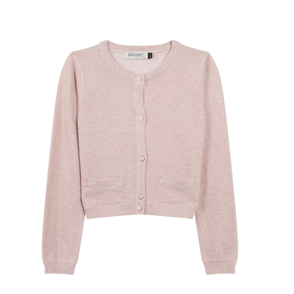 Girls Dusty Pink Cardigan