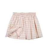 Peach Checked Skirt