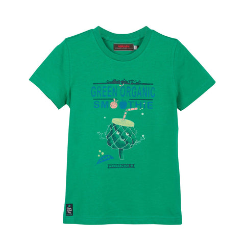 Boys Botanical Design Glow-in-The-Dark T-shirt