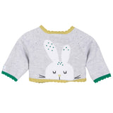 Rabbit Knitted Reversible Cardigan - Grey