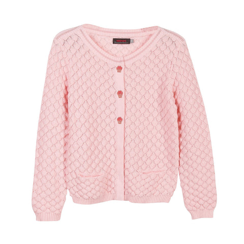 Stylish Pink Knitted Cardigan