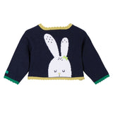 Rabbit Knitted Reversible Cardigan - Navy