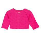 Baby Girls Knitted Cardigan With Pompons