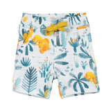 Printed Fleece Bermuda Shorts