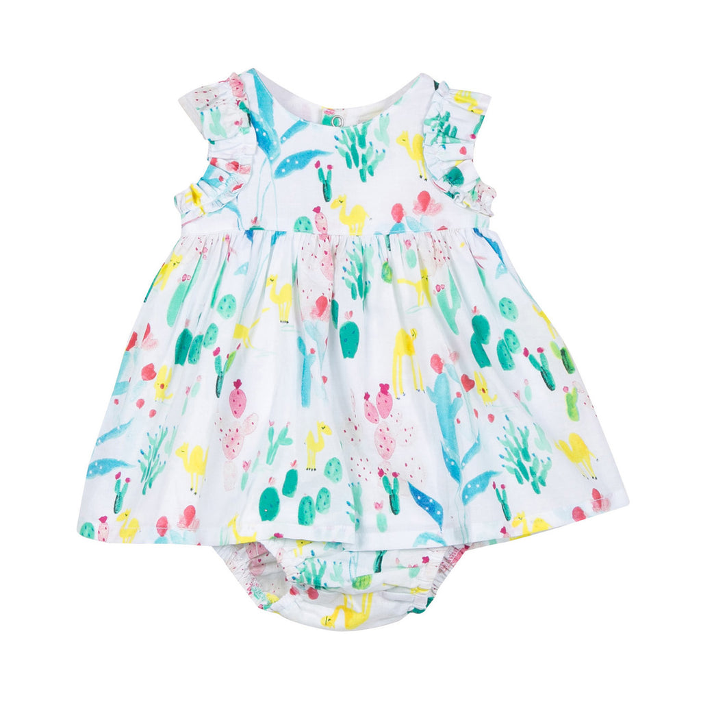 Baby Girls Dress and Bloomer in Printed Voile