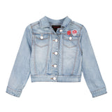 Bleached Denim Jacket with Patches