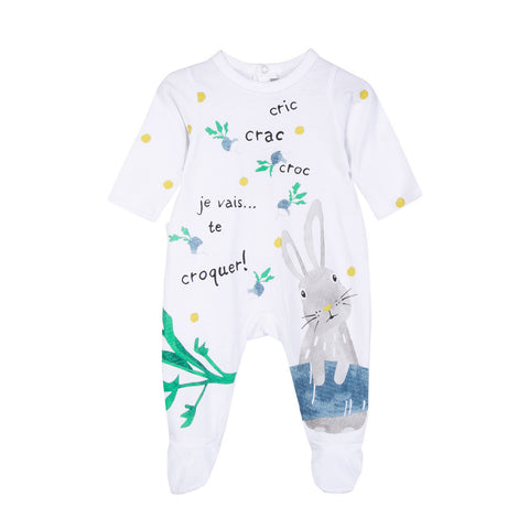 Bunny Print Jersey Coverall