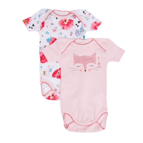 "Baby Girls ""Secret Garden"" Bodysuits Set of 2"