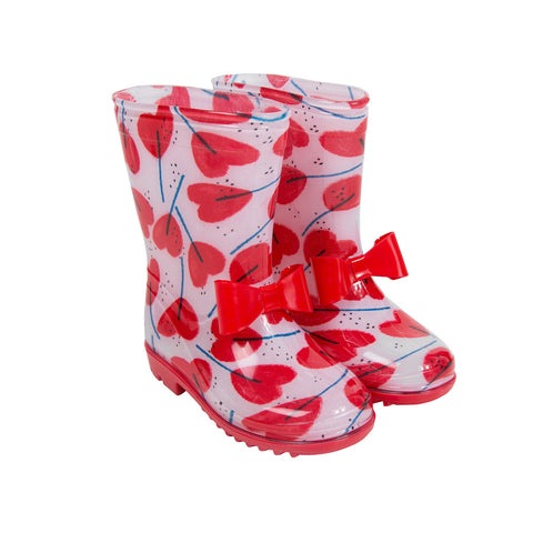Rain Boots With Heart Print