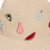 Fruit Pattern Straw Hat