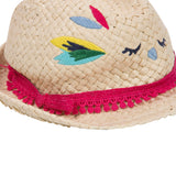 Bird Pattern Straw Hat