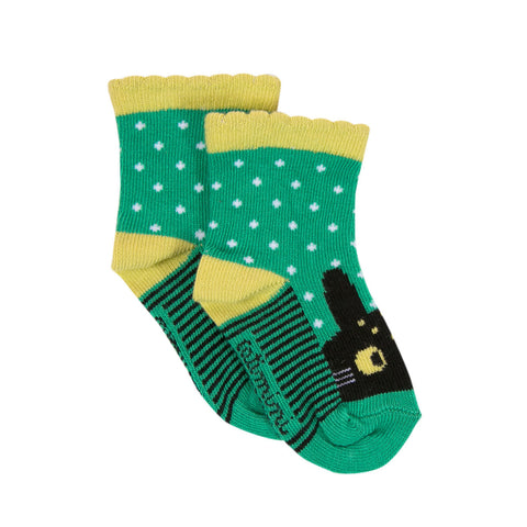 Colorful Green Polka dot Socks