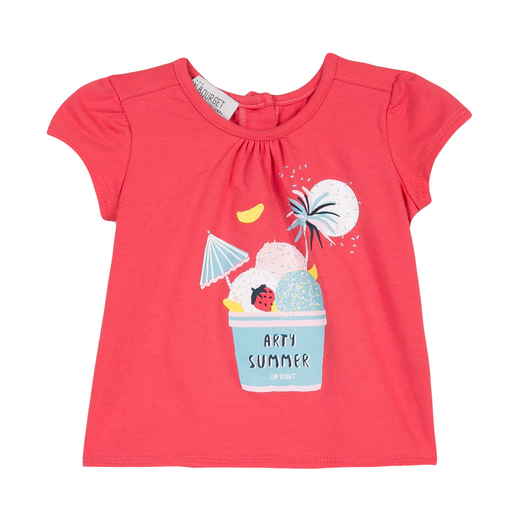 Girls Ice Cream Printed T-shirt
