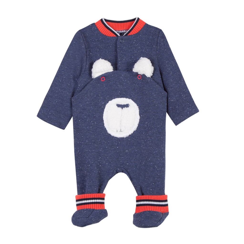 Baby Boys Warm Bear Onesie with Socks