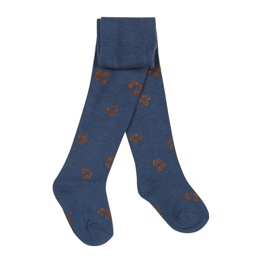 Baby Girls Navy Cotton Tights