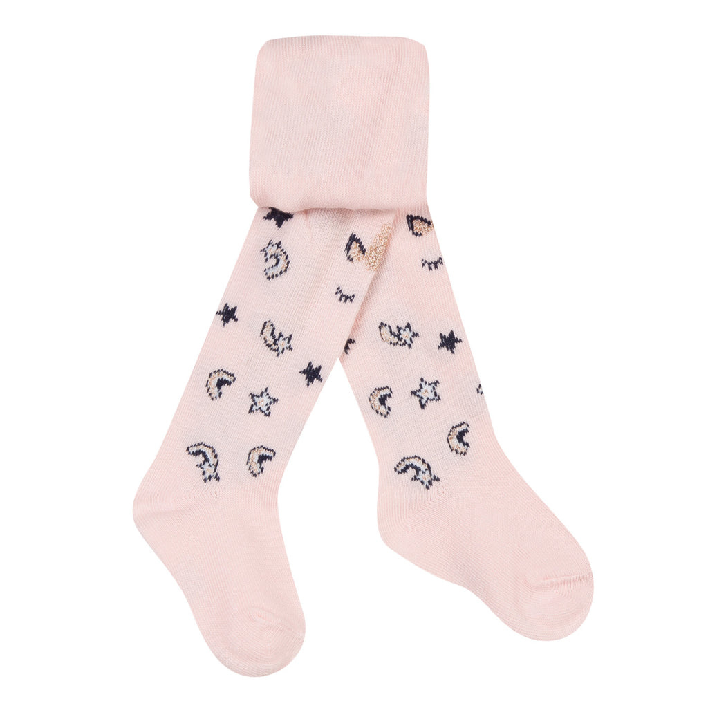 Baby Girls Pink Cotton Tights