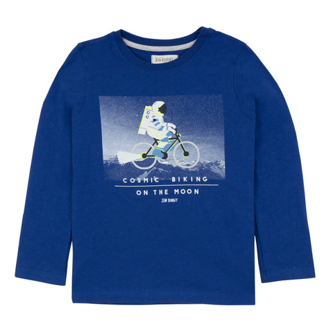 Boys Biking On The Moon T-shirt
