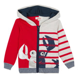 2-in-1 Zipped Jacket with Marine Images