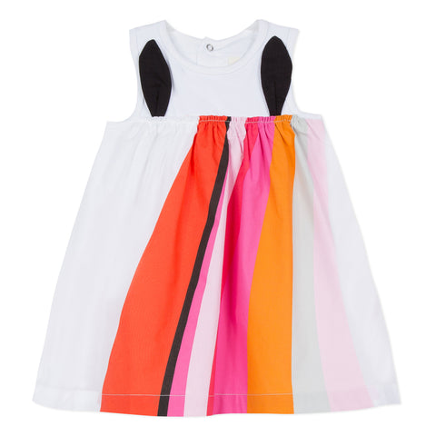 Dress with Amusing Rainbow in Two Materials