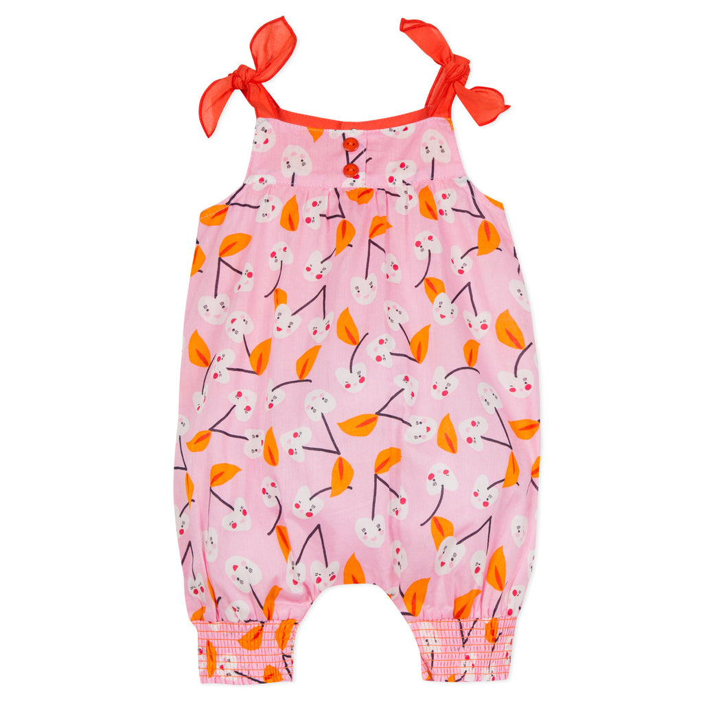 Baby Girls Cherry Printed Voile Jumpsuit