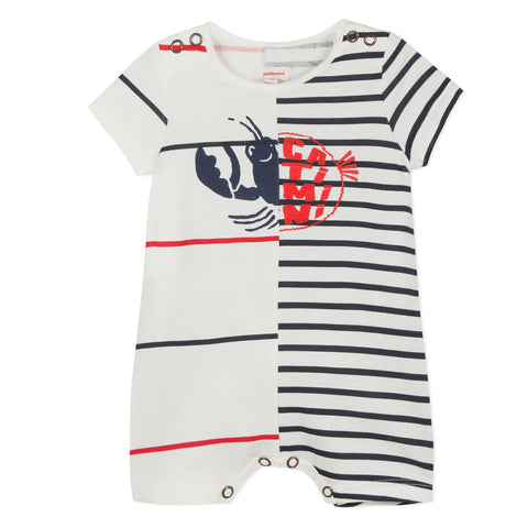 Baby Boys 2-in-1 Jersey Jumpsuit with Marine Images