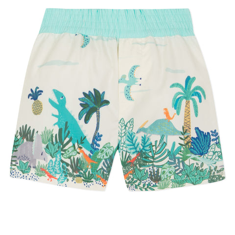 Swim Shorts with Primitive Rock Print